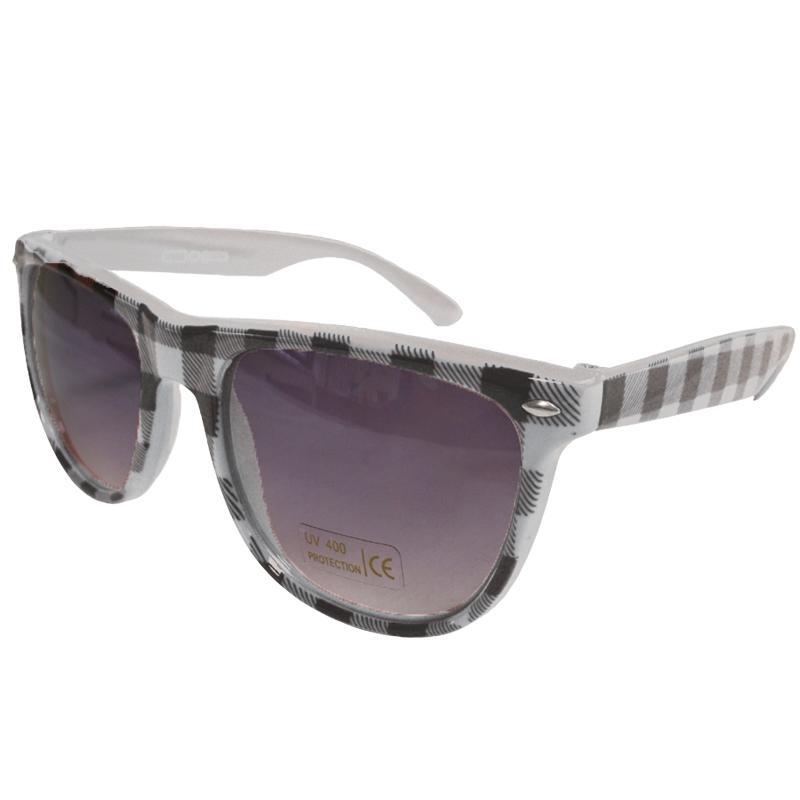 White Buffalo Checker Wayfarer Style Sunglasses 1068