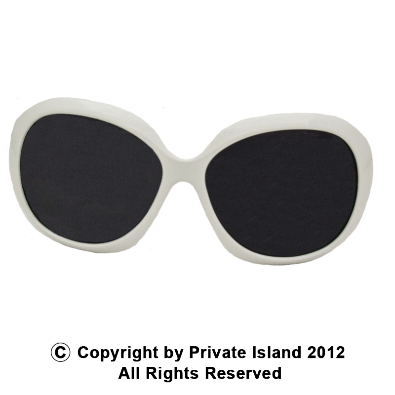 White Jackie Oversized Sunglasses 1139
