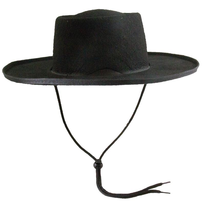 Zorro Costume Spanish Hat 5895