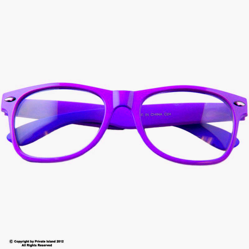 Purple with Clear Lens Wayfarer Styles Sunglasses 7076
