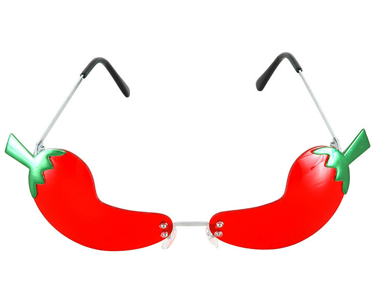 Cinco De Mayo Rimless Chili Pepper Party Costume Glasses 7120
