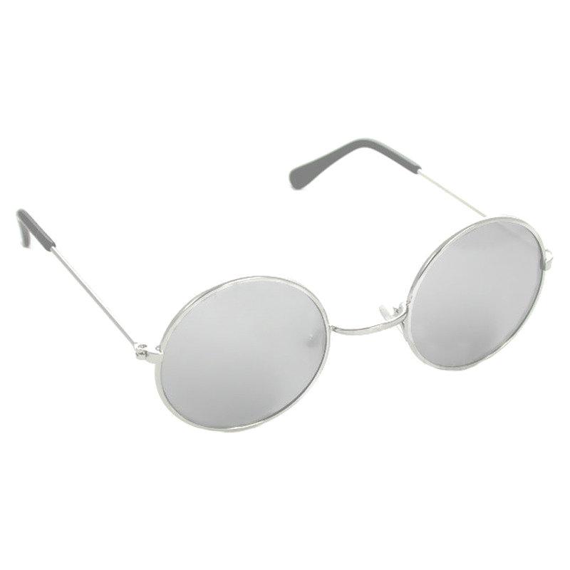 Silver Mirror Lennon Style Sunglasses 1095