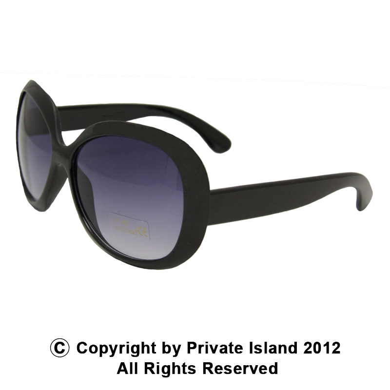 Black Jackie Oversized Sunglasses 1138