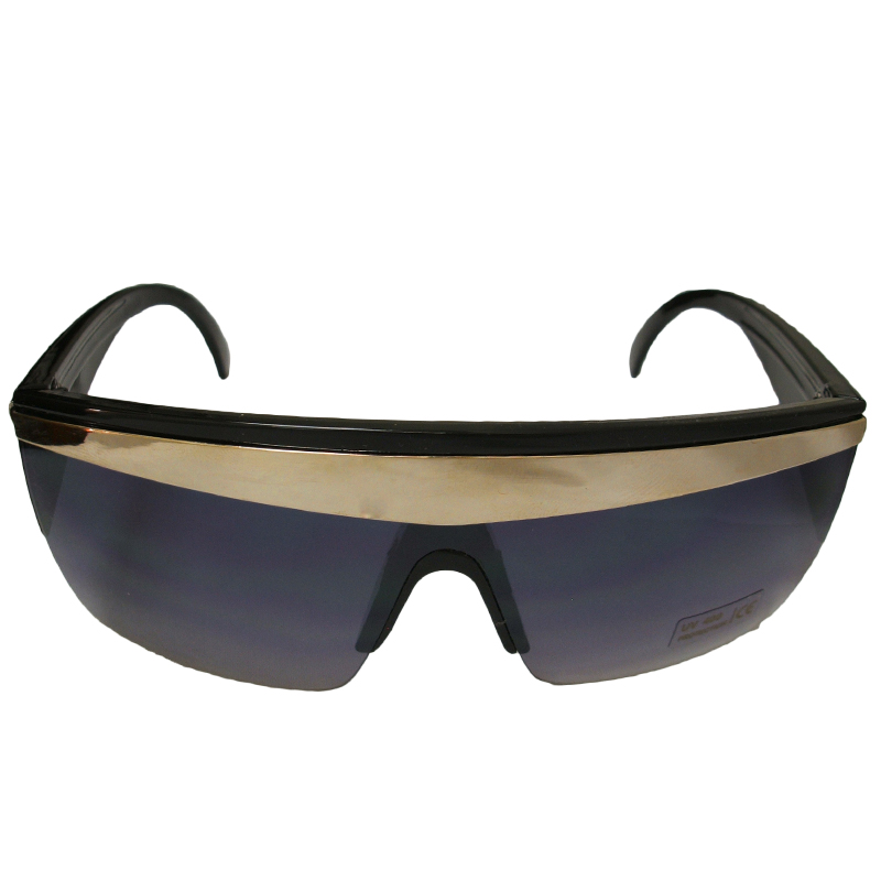 Black with Gold Stripe Lady Diva Sunglasses 1140