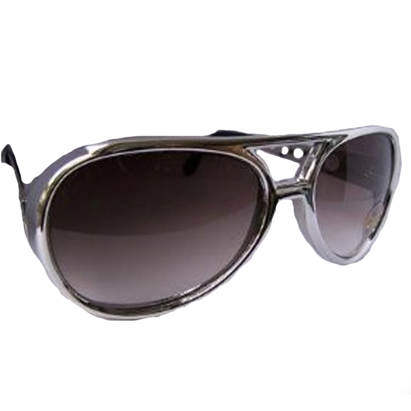 Silver RockStar Elvis Style Sunglasses 1136