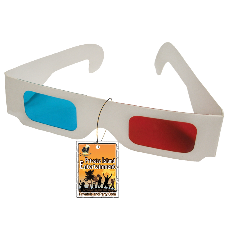 3D Cardboard Glasses – Red/Cyan Anaglyph  1172