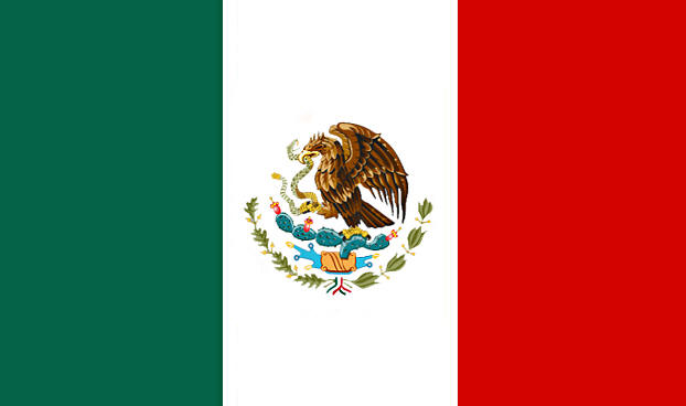 DOZEN Mexican Pride Flags 3' X 5' FT 9094