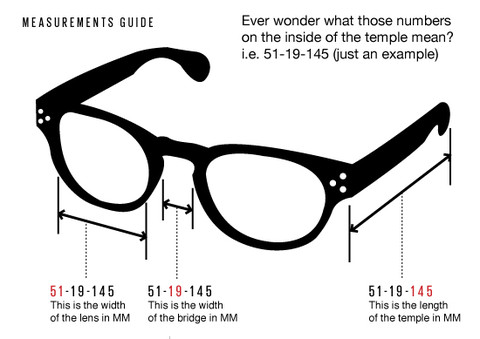 How to Buy Sunglasses Guide Frame Measurements